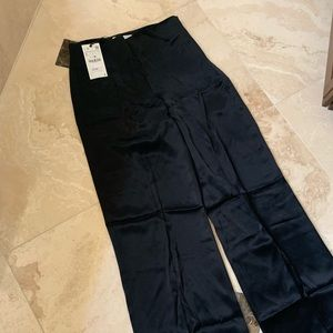 Zara Satiny Look Wide Leg Pants